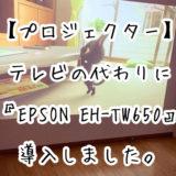 テレビの代わりにプロジェクター『EPSON EH-TW650』を導入して気付いたメリット・デメリットについて