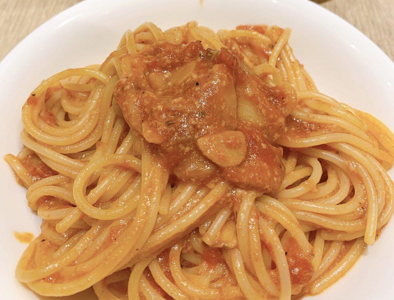 トマトとニンニクのスパゲティー