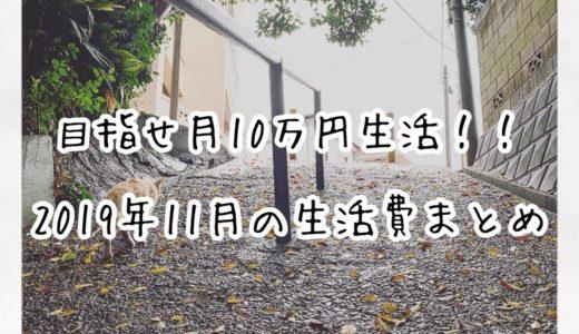 【ミニマリスト】目指せ月10万円生活!!2019年11月の生活費まとめ