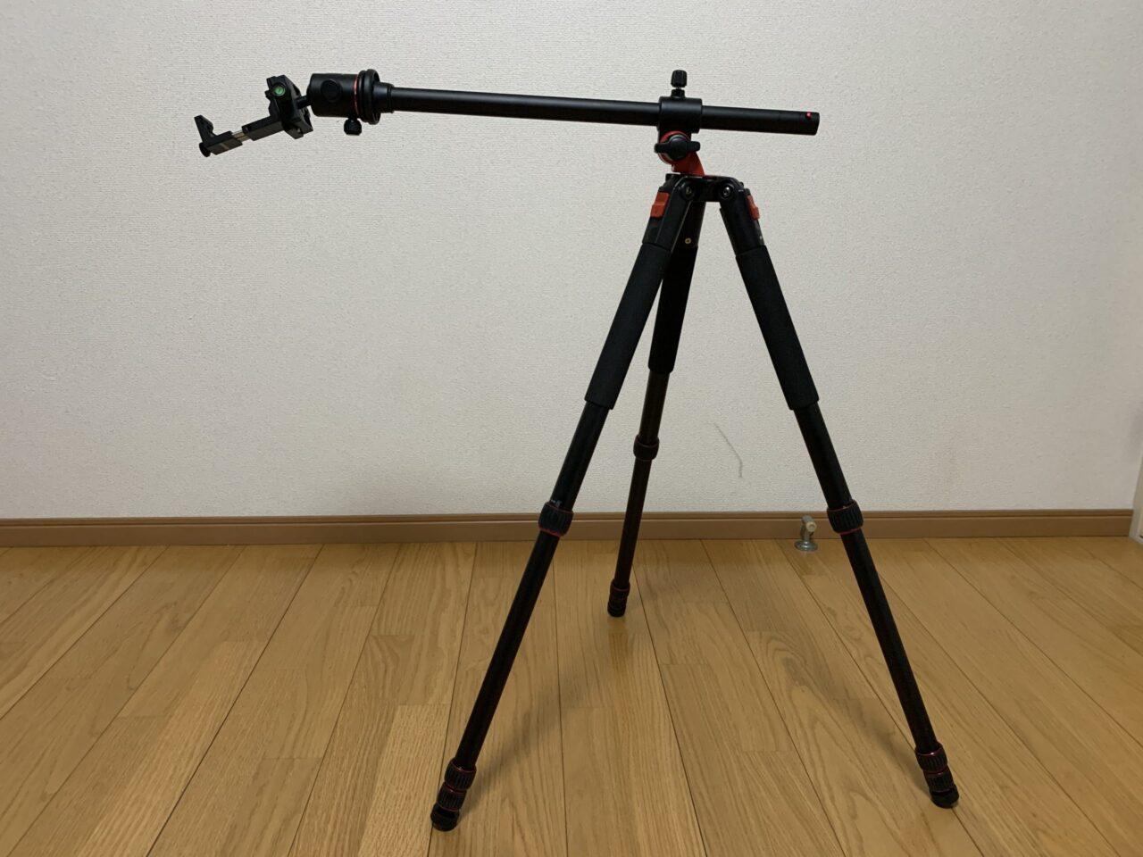 Neewerカメラ三脚を使ってスマホで俯瞰撮影してみた