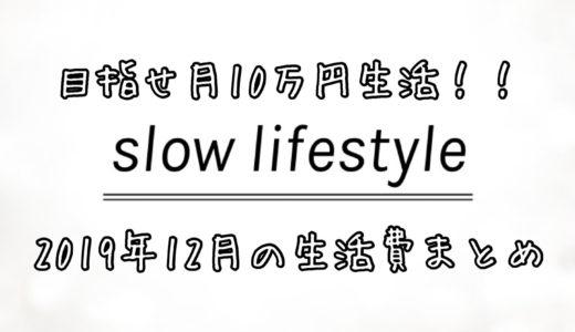 【ミニマリスト】目指せ月10万円生活!!2019年12月の生活費まとめ