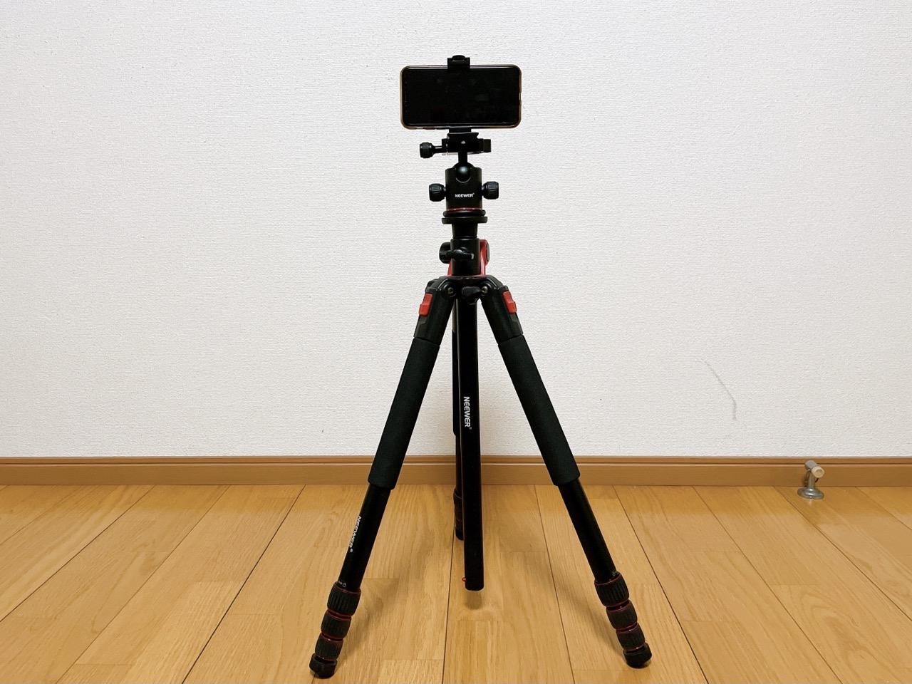 Neewerカメラ三脚をスマホ撮影用にしてみた