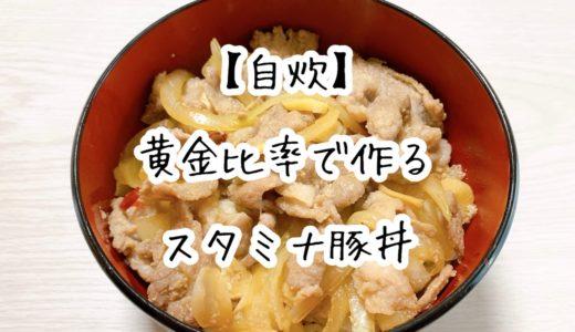 【自炊】黄金比率で作るスタミナ豚丼が美味しすぎた!