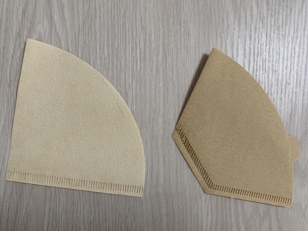 台形のペーパーフィルターを円錐型ドリッパーで使用する方法