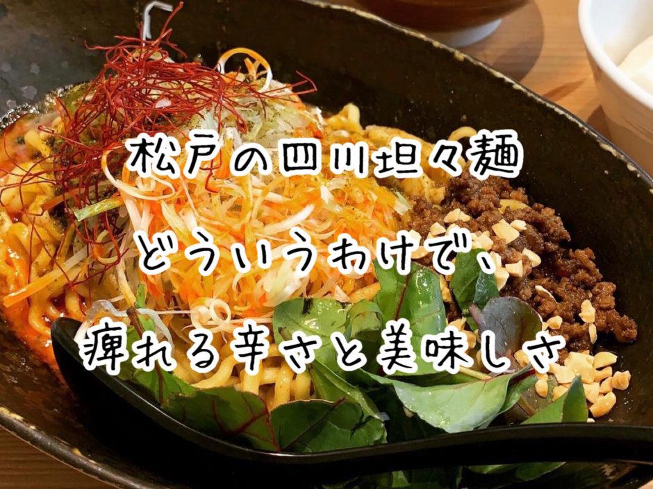 【ラーメン】松戸の四川坦々麺『どういうわけで、』が痺れる辛さで美味しい