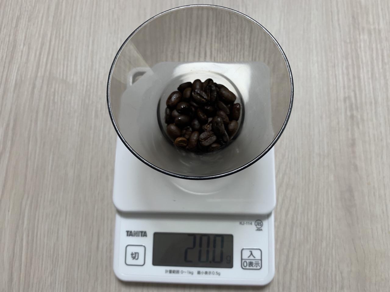 コーヒー豆20g