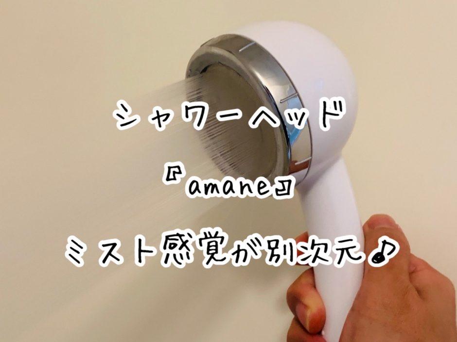 シャワーヘッド『amane』のミスト感覚が別次元だった