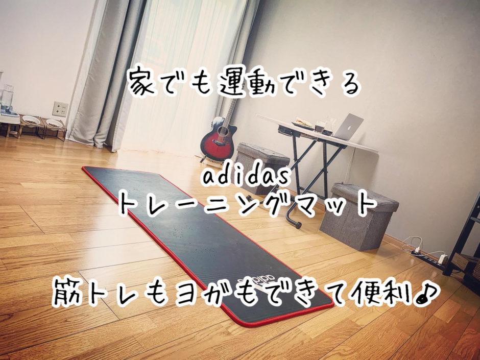 自宅で運動ができるadidasトレーニングマットが筋トレやヨガに最適!使い心地についてレビューしてみた