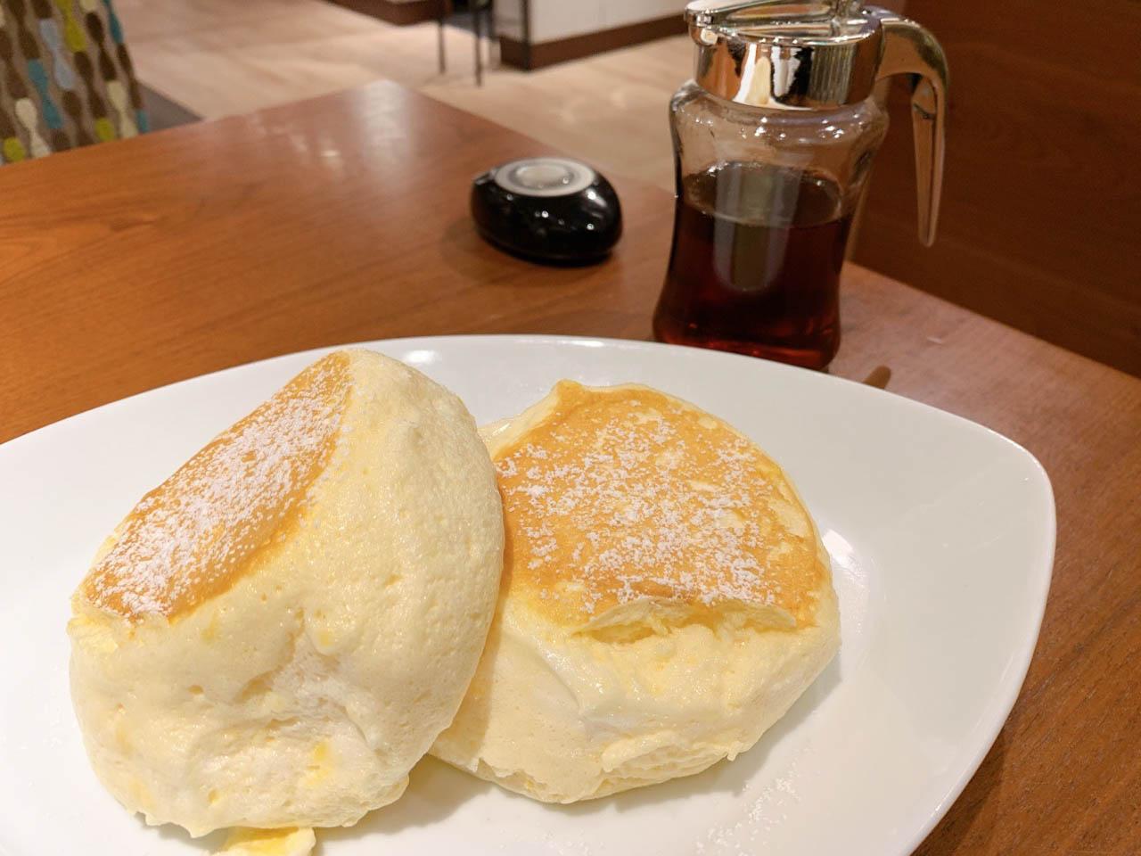 """""""むさしの森珈琲特製""""ふわっとろパンケーキ"""