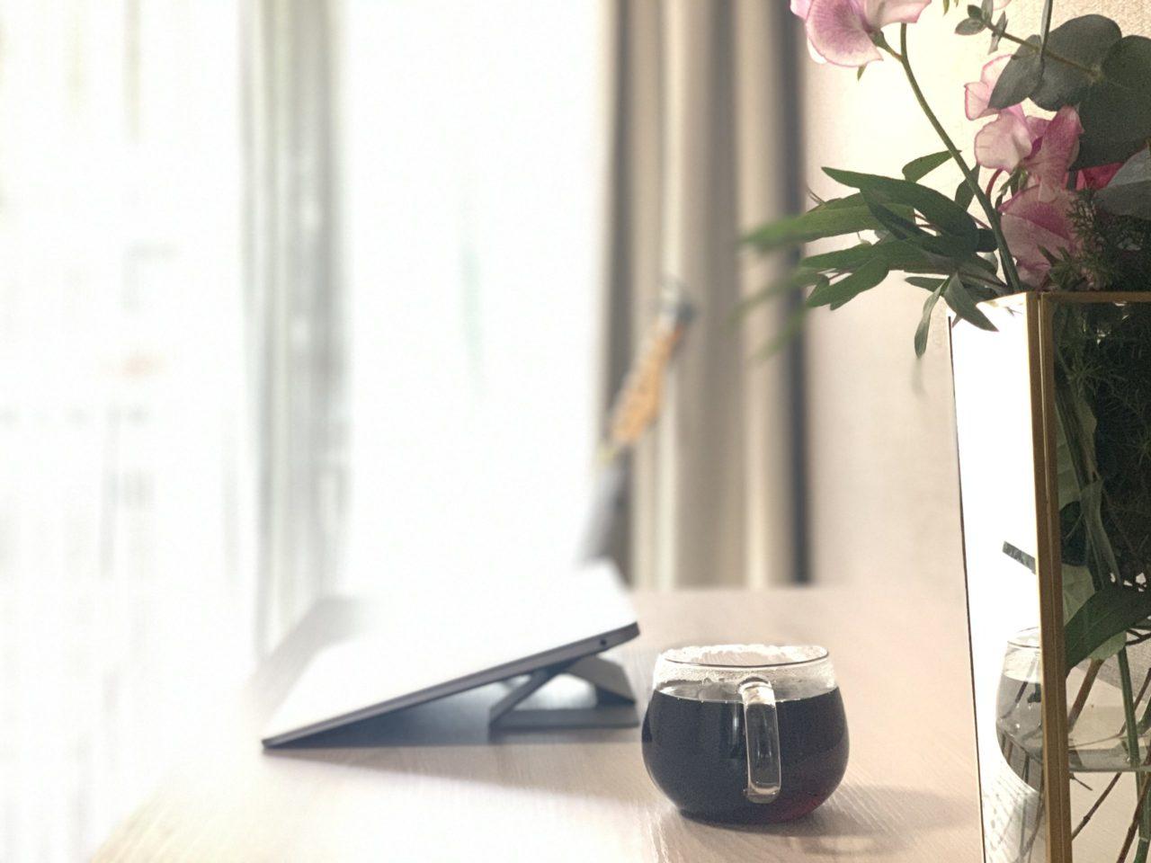 コーヒーの色合いが綺麗