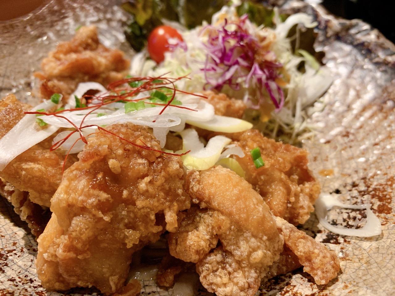 ハーブ鶏の唐揚げ油淋鶏御