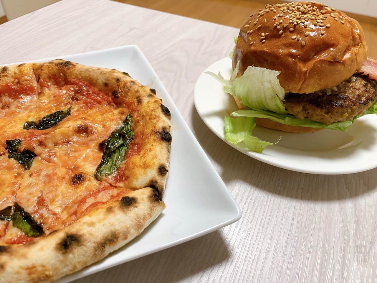 石窯ピッツァとパン工房「フォルナイオ」のピザとハンバーガーを食べてみた