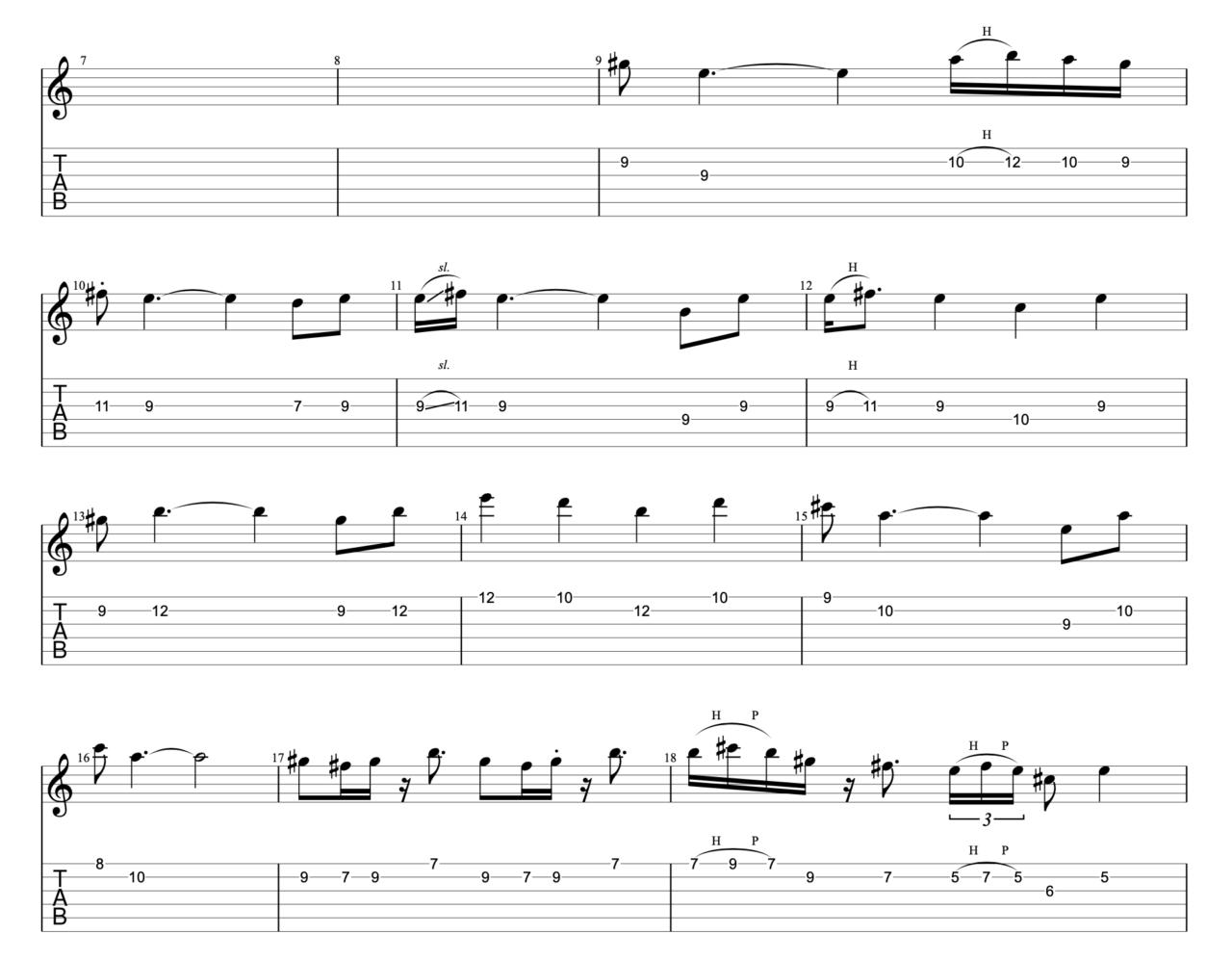 さわがしいまち|beco(騒音のない世界)のギターフレーズ解説!【楽譜(tab譜)付】 Aメロ