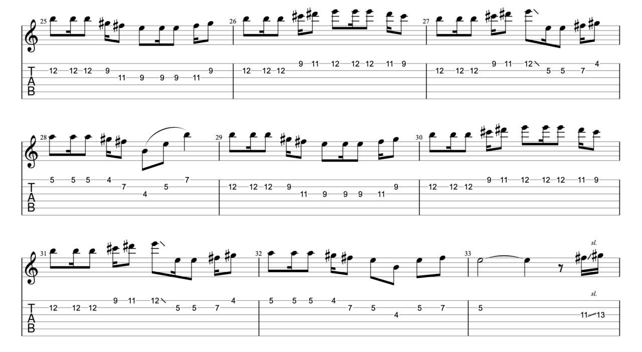 さわがしいまち|beco(騒音のない世界)のギターフレーズ解説!【楽譜(tab譜)付】 サビメロ