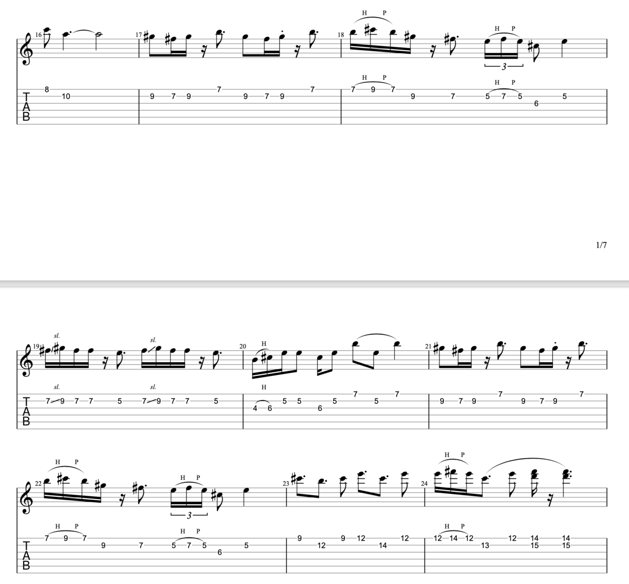 さわがしいまち|beco(騒音のない世界)のギターフレーズ解説!【楽譜(tab譜)付】 Bメロ