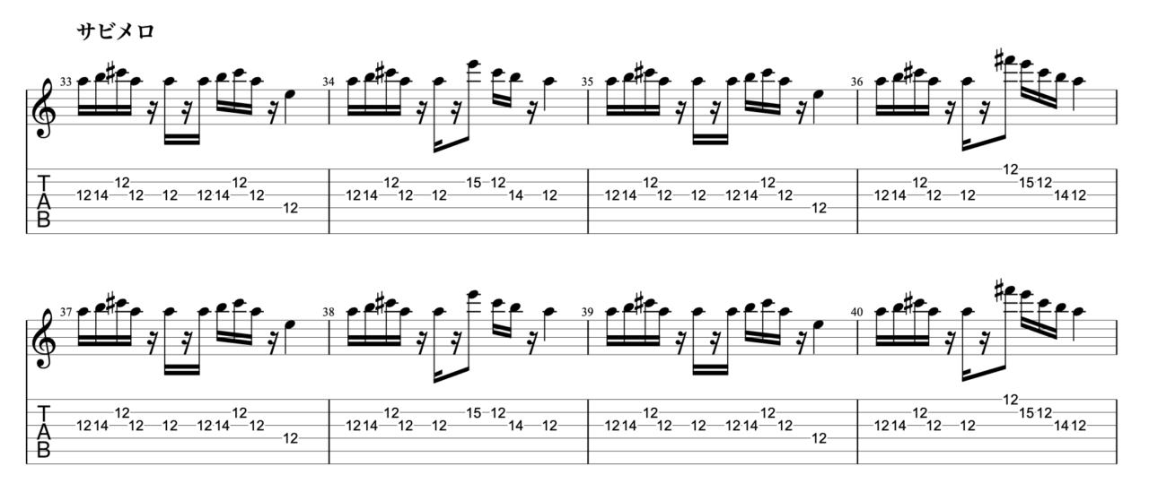 まぼろし|beco(騒音のない世界)のギターフレーズ解説!【楽譜(tab譜)付】 サビメロ