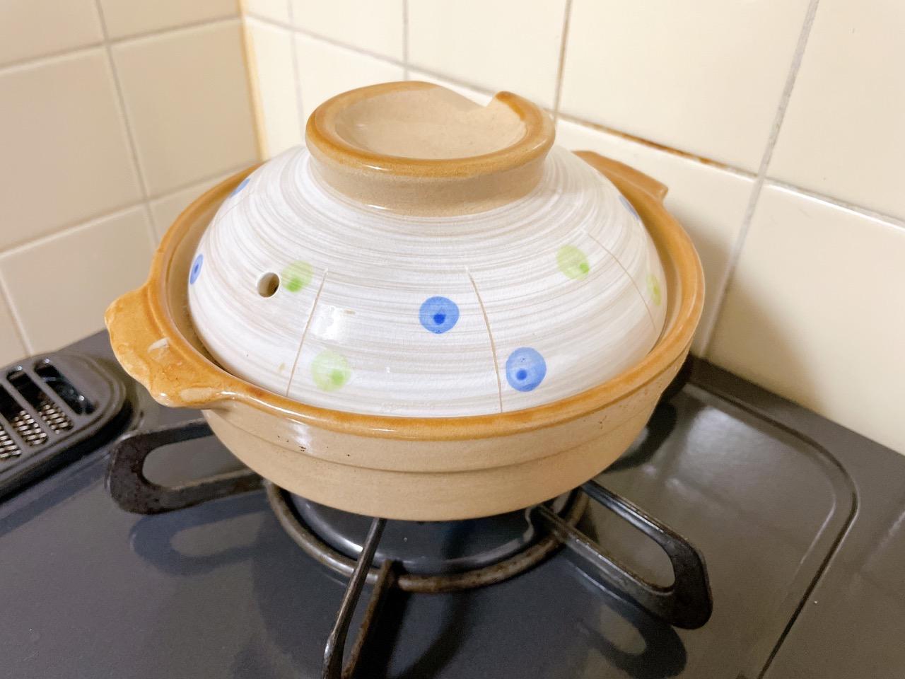ロウカット玄米を土鍋で炊く方法
