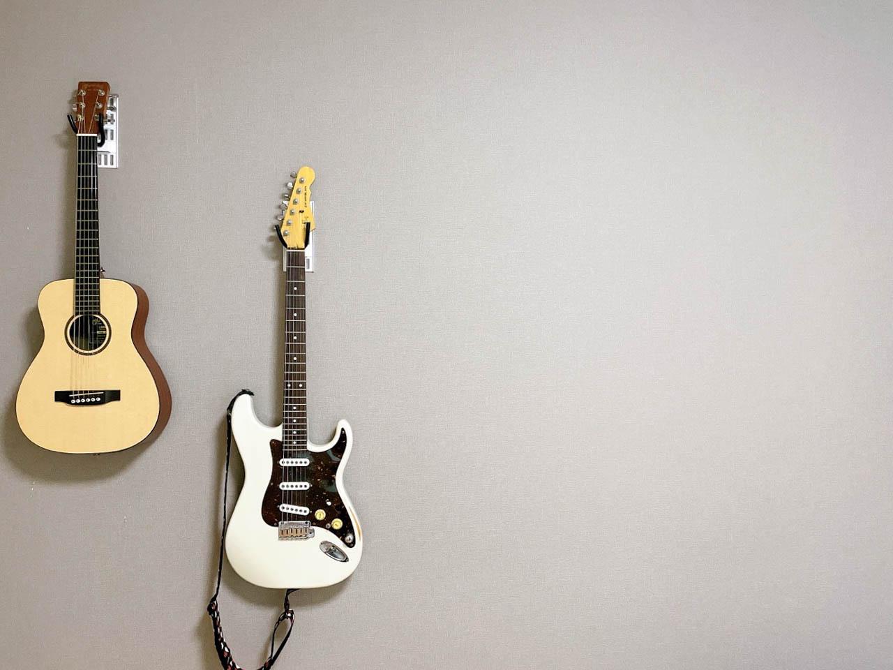 実際にギターを掛けてみた