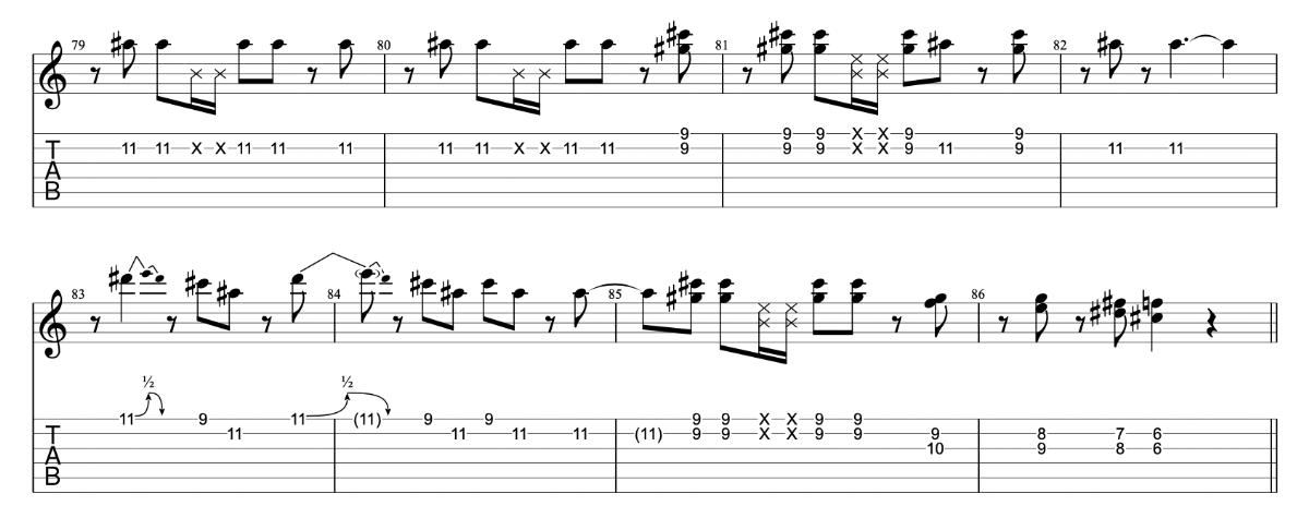ニンニン忍者 beco(騒音のない世界)のギターフレーズ解説 間奏