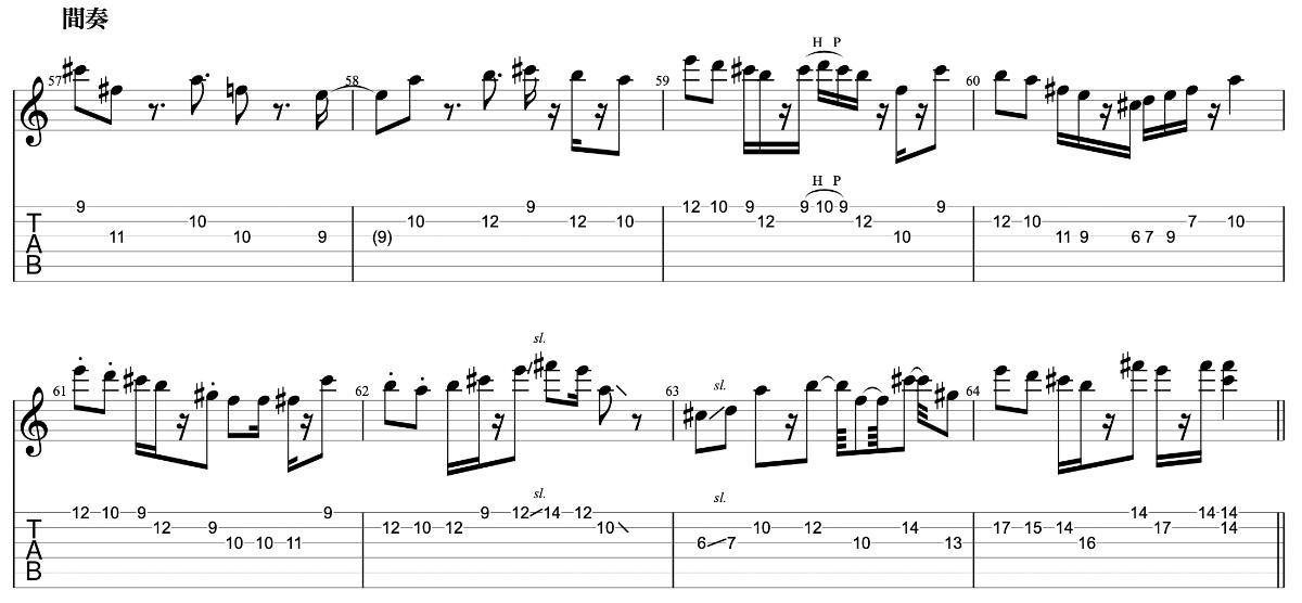 亡霊の女の子|beco(騒音のない世界)のギターフレーズ解説 間奏