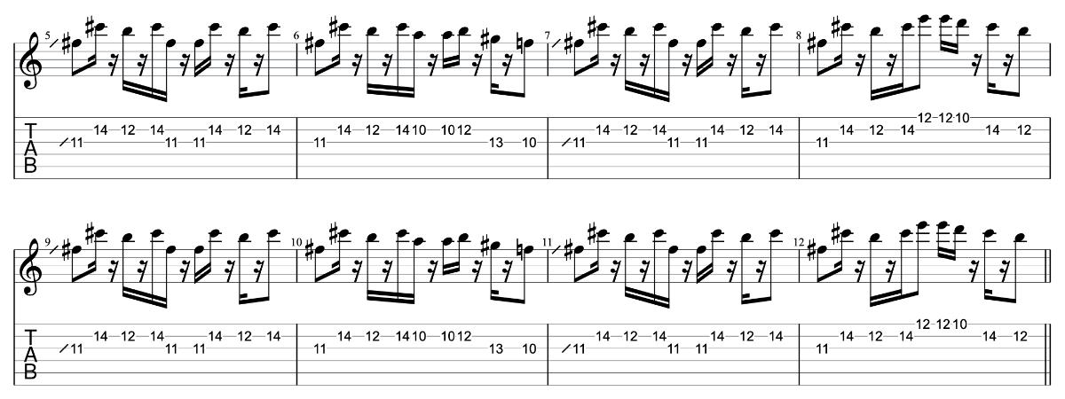 亡霊の女の子|beco(騒音のない世界)のギターフレーズ解説 イントロ