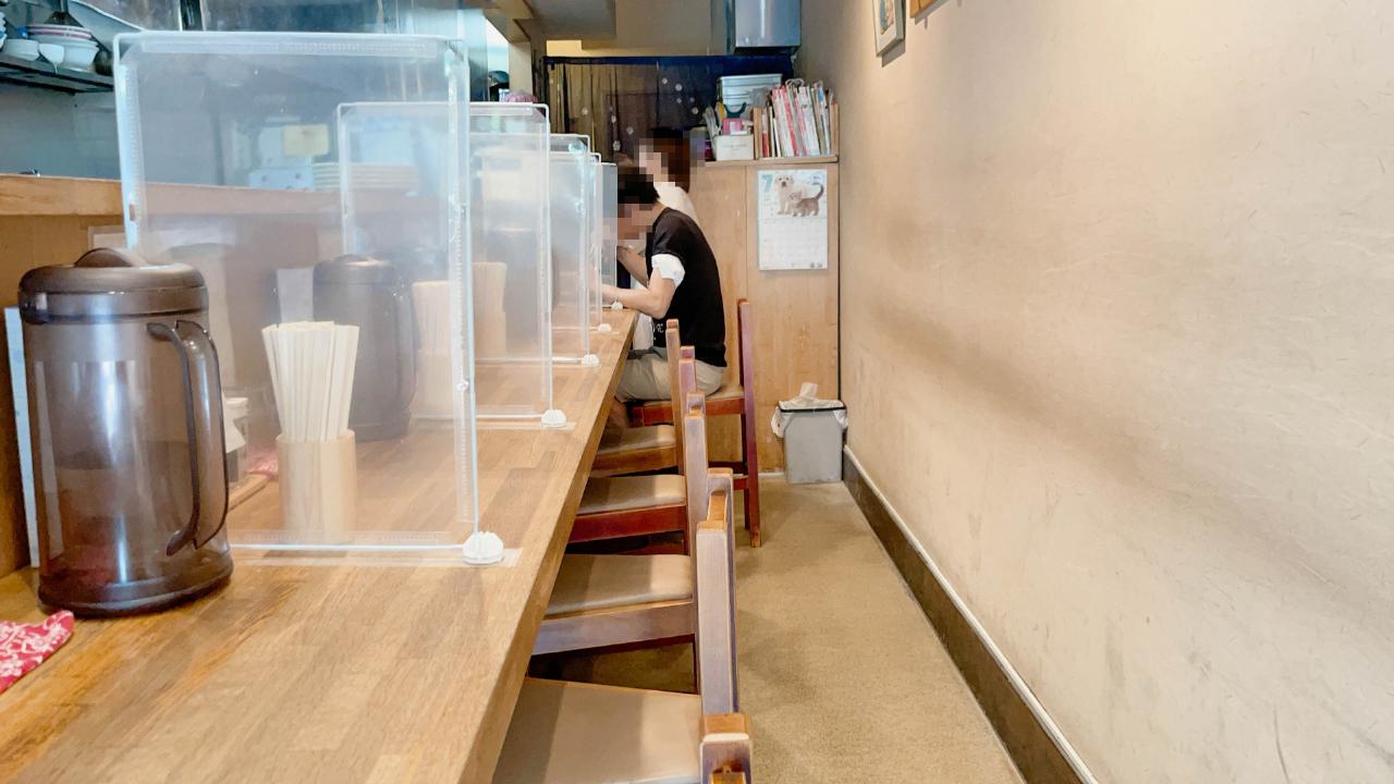 【北松戸】麺座まねきの内観
