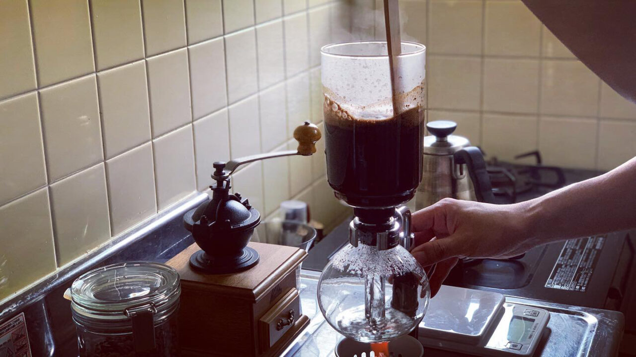 サイフォン式コーヒー・使い方 手順4