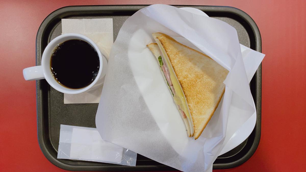 トーストサンドとろ〜りチーズ&ハム
